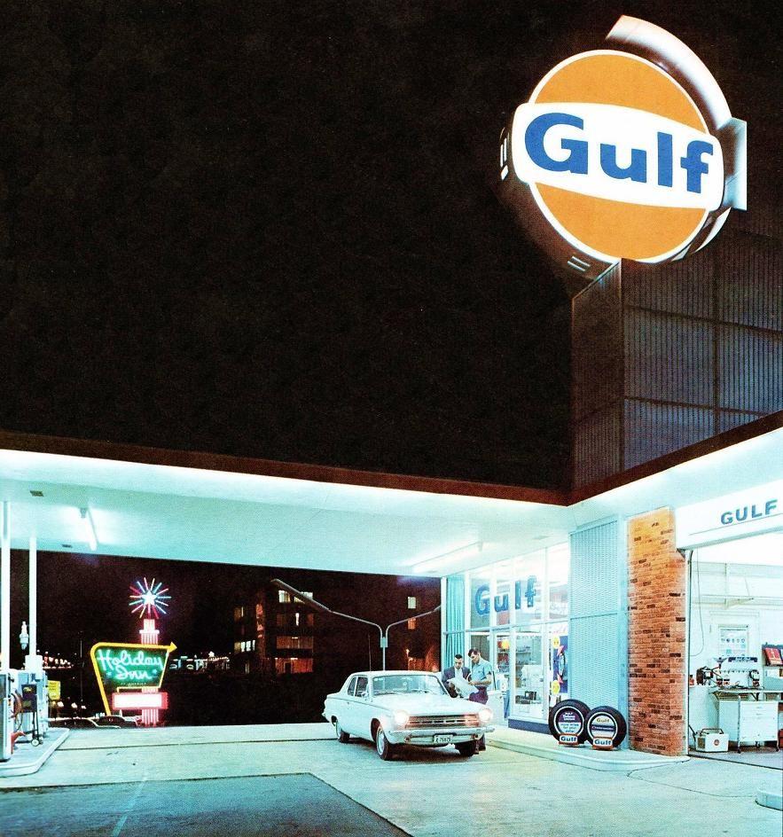 Gulf Gas Station - Holiday Inn Memphis 1966 Vintage