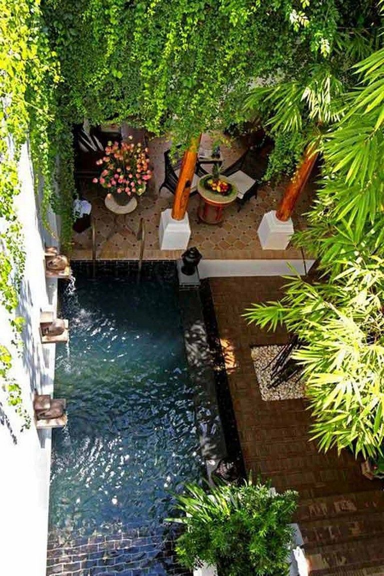 40 Exciting Small Pool Design Ideas For Your Small Yard Backyard Landscaping Designs Small Backyard Landscaping Backyard Garden Design