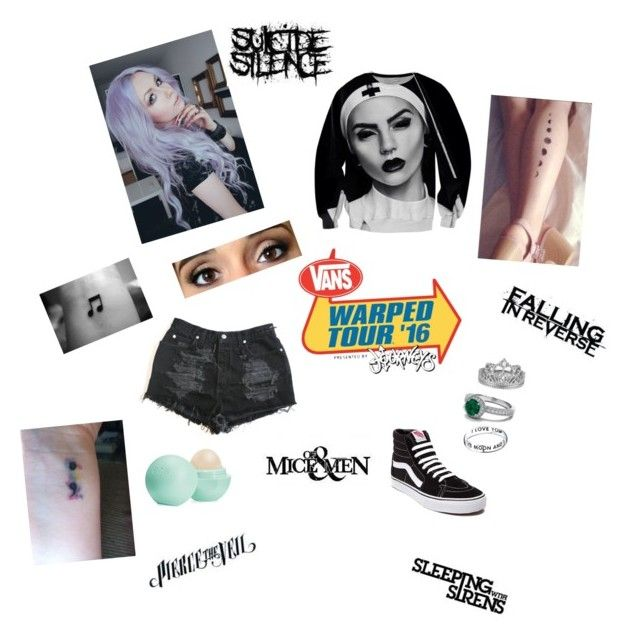 """Going to Warped tour!!"" by mackenna-1 ❤ liked on Polyvore featuring Vans, Eos and Footnotes"