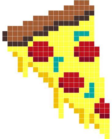 Dessin Pixel Art Pizza