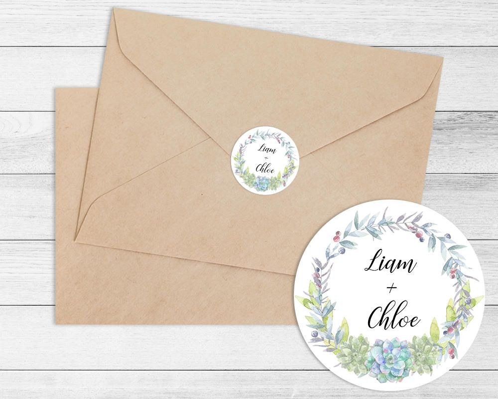 personalised name wedding envelope