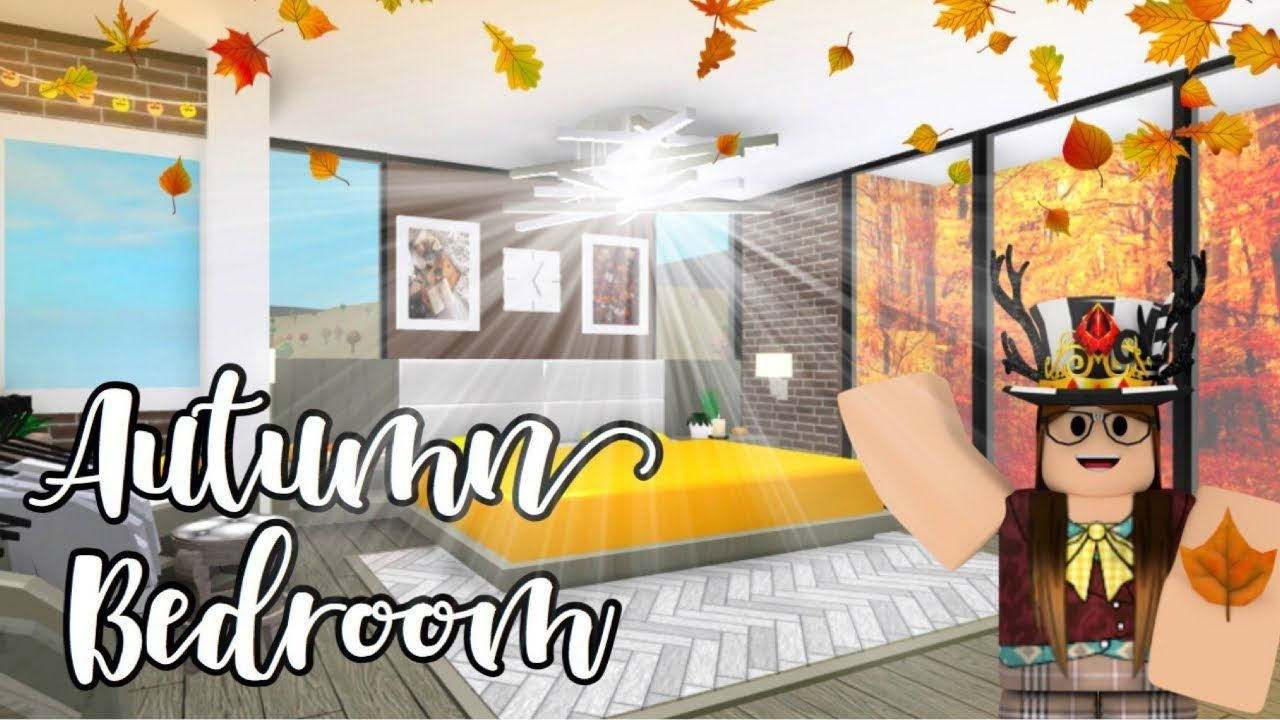 Bloxburg L Autumn Bedroom Bathroom 31k L Roblox Youtube House Plans With Pictures Aesthetic Bedroom Cute Bedroom Ideas