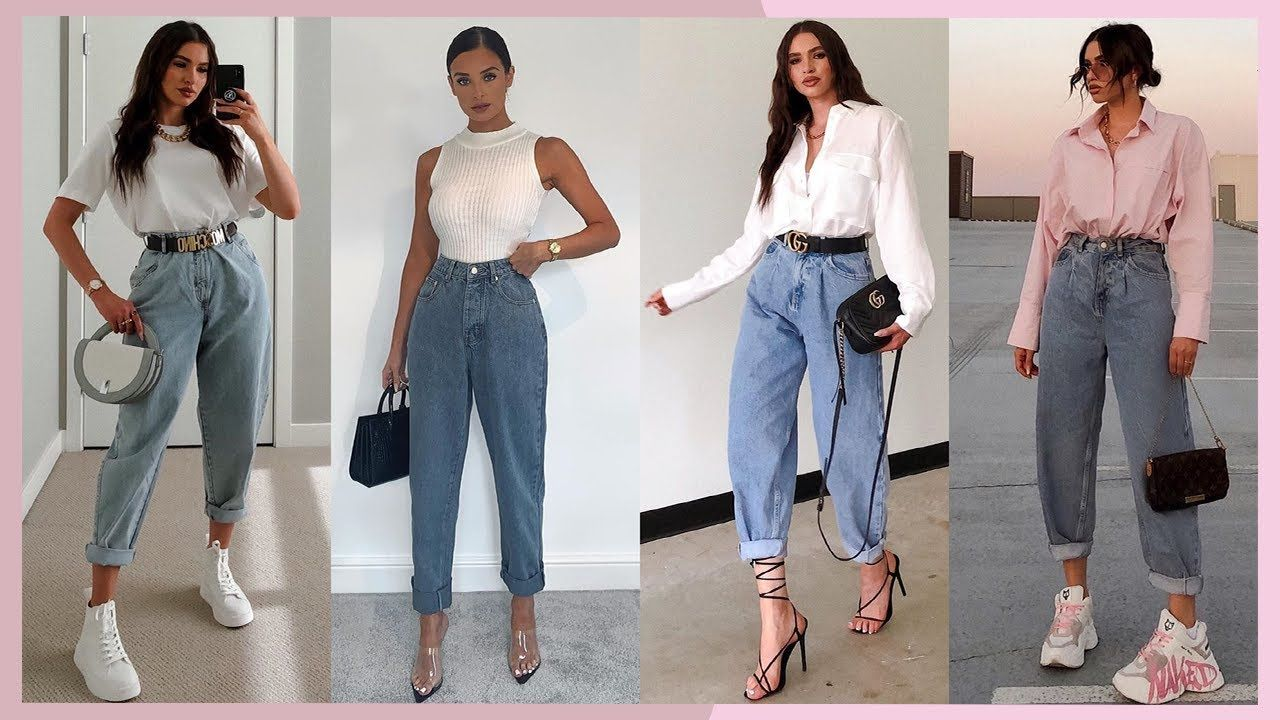 Outfits Con Mom Jeans 2020 Moda Primavera Verano Mujer Juvenil 2020 20 Mom Jeans Fashion Outfits