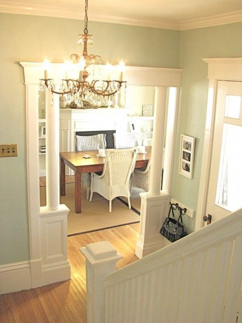 Benjamin Moore Palladian Blue and Cloud White. | Home Inspiration ...