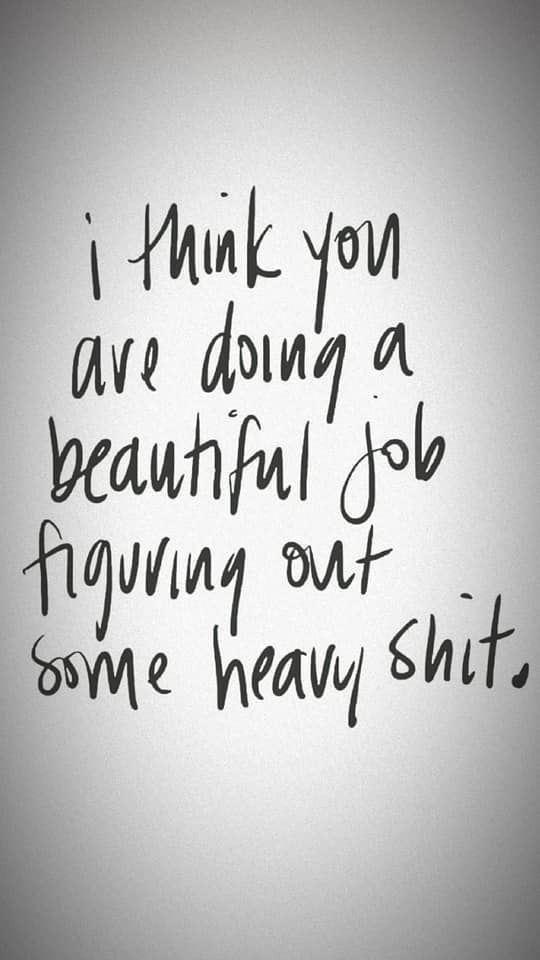 Photo of i think you are doing a beautiful job figuring out some heav…