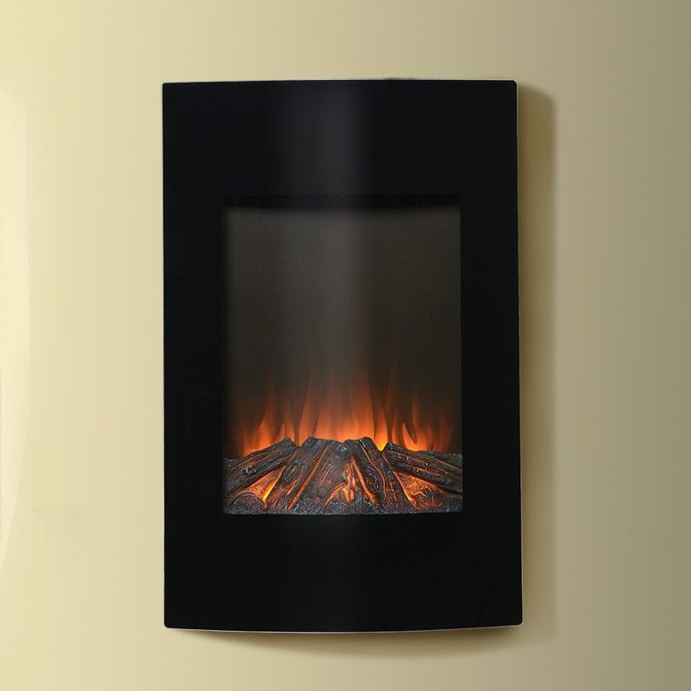 Features Flamelux Collection Vertical Wall Mounted Bow Electric