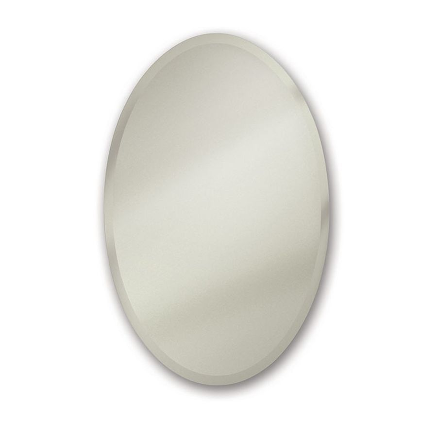 Jensen Cameo 24 In X 36 In Recessed Frameless Mirrored Oval Medicine Cabinet Lowes Com Medicine Cabinet Mirror Medicine Cabinet Beveled Edge Mirror