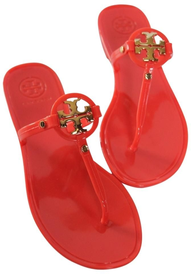 a6dd4135203cc Tory Burch Brand New In Box Mini Miller Jelly Thong Flat Flip Flop POPPY  CORAL Sandals. Get the must-have sandals of this season! These Tory Burch  Brand New ...