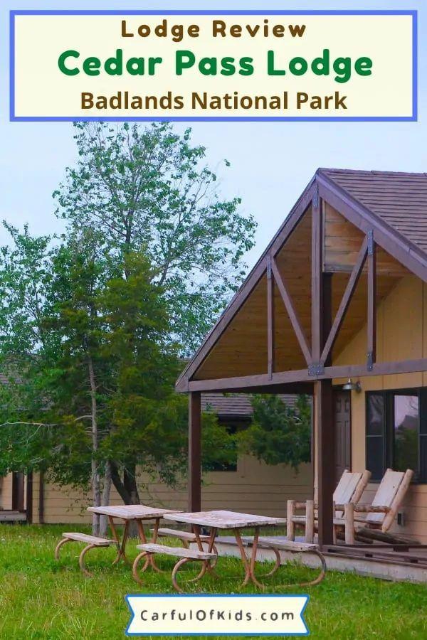 Cedar Pass Lodge Cabin Badlands National Park Carful