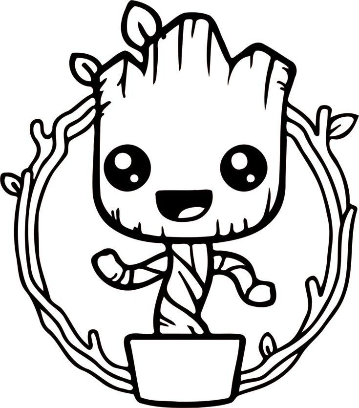 Pin By Shelly Wood On Wood Burning Patterns Baby Groot Drawing Coloring Pages Baby Groot