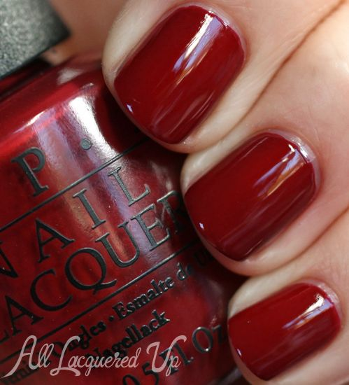 Dark Red Nail Polish: OPI San Francisco Fall 2013 Silver & Red Nail Polish