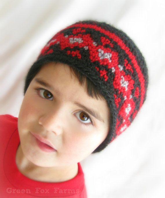 Fair Isle Winter Hat, Boys Crochet Beanie, Girls Crochet Hat ...