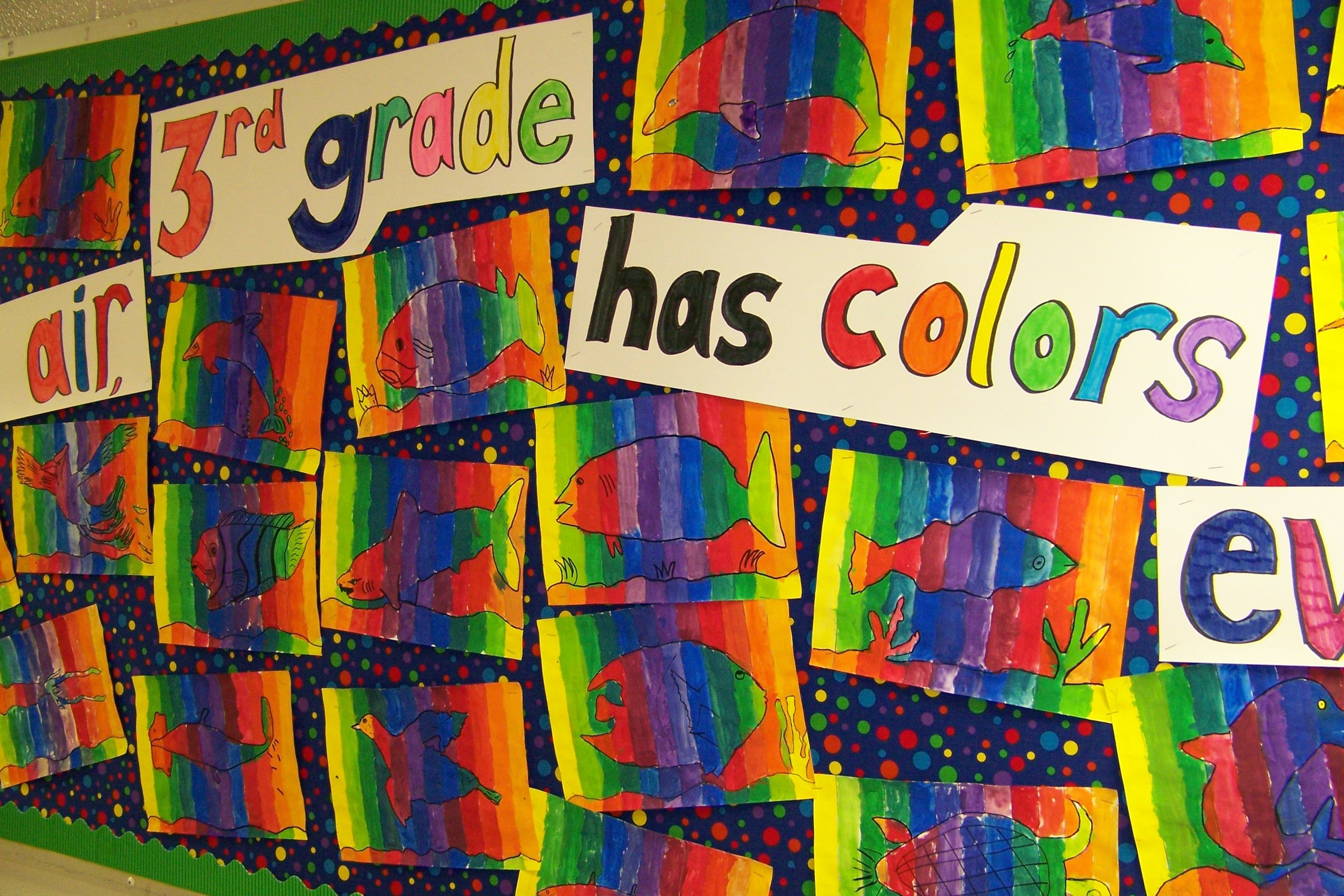 Student Color Wheels 3rd Grade