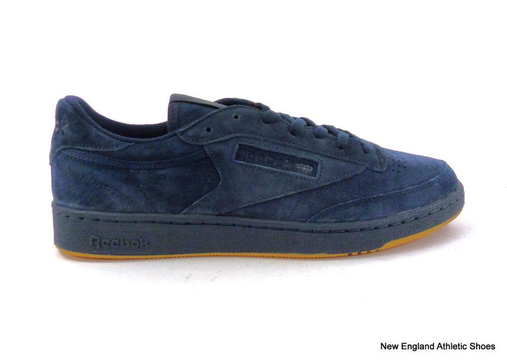 9fd5b6c0671d89 Reebok men s Club C 85 casual shoes sneakers Collegiate Night Navy Gum size  12