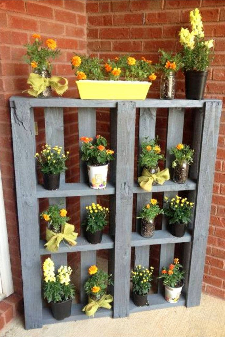 Pallet Projects – 19+ Clever, Crafty and Easy DIY Pallet Ideas – Clever DIY Ideas #gardening #backyard garden #garden design #garden ideas #gard