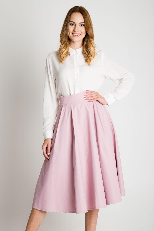 08758773 spódnica za kolano   różowa spódnica   tiulowe spódnice mohito ...