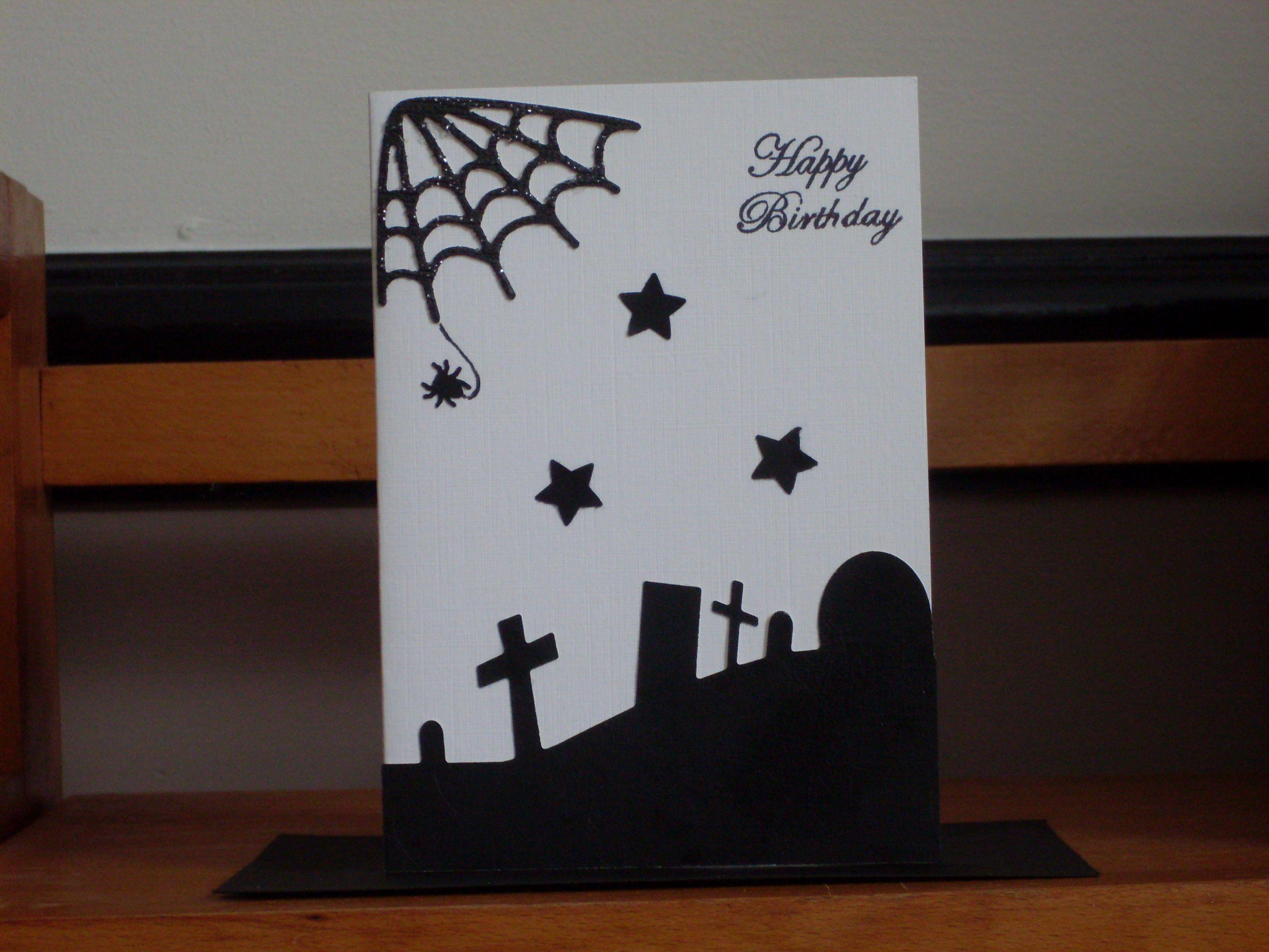 A Halloween horror themed birthday card that I have handmade