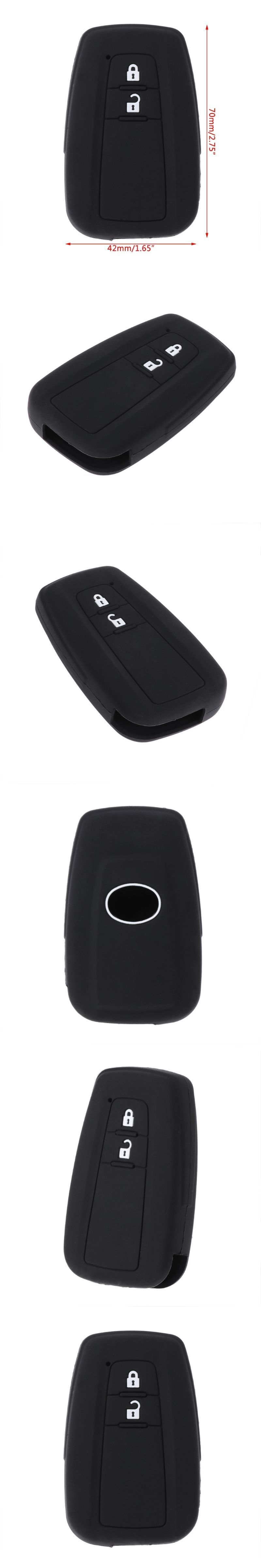 New 2 Buttons Silicone Car Key Fob Case Cover Holder For Toyota CHR