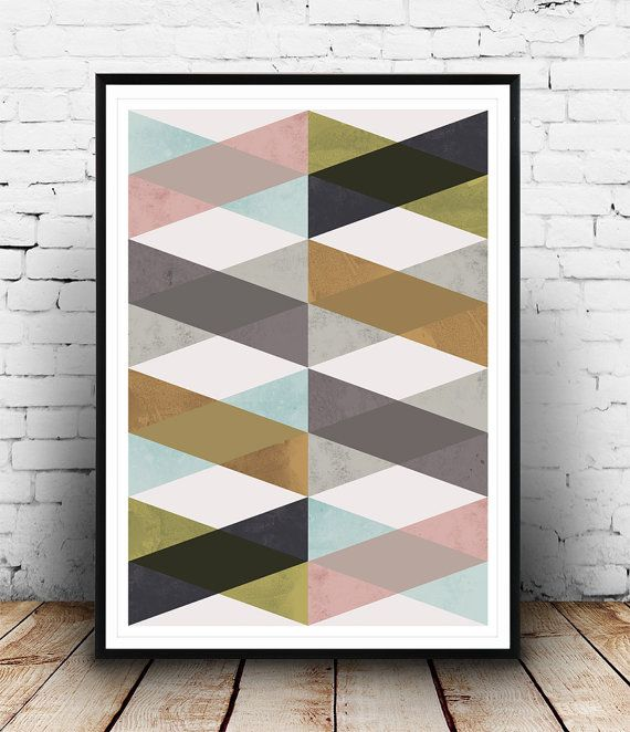 Geometric Print, Chevron Pattern, Minimalist Art, Geometric Art, Modern Art,  Nordic