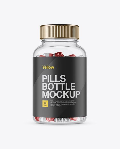 Download Clear Plastic Bottle With Metallic Pills Mockup Front View In Bottle Mockups On Yellow Images Object Mockups Mockup Free Psd Clear Plastic Bottles Psd Mockup Template PSD Mockup Templates