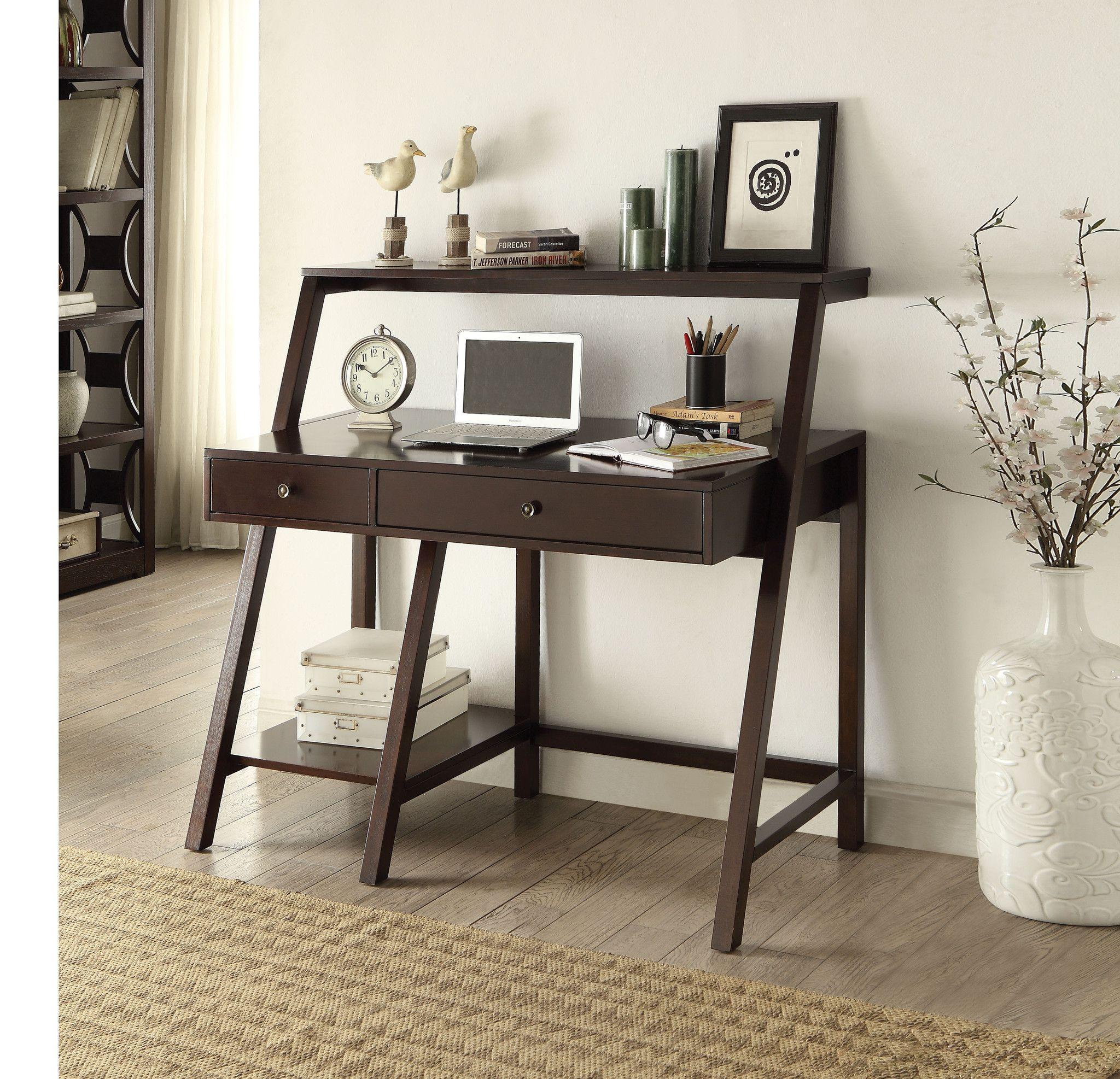 Dacia Espresso Desk 92252features Dacia Collection Espresso Finishdimensions Desk 48 X 25 X 44 H Ladder Desk Acme Furniture Desk
