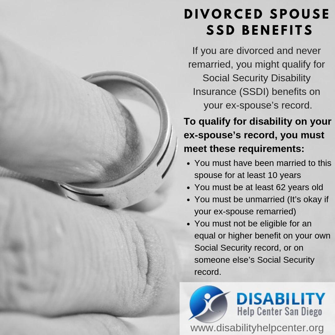 Divorced spouse ssd benefits social security disability