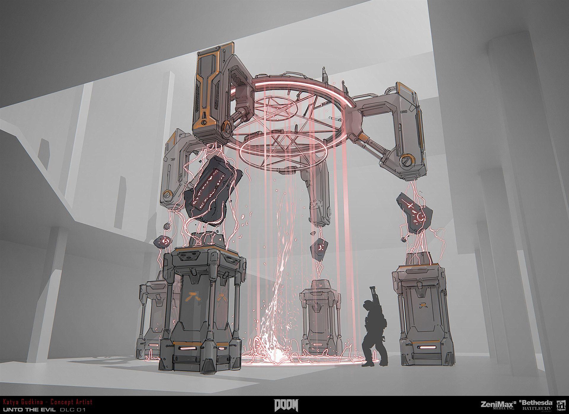 ArtStation - Concept art for Doom 4 , Katya Gudkina