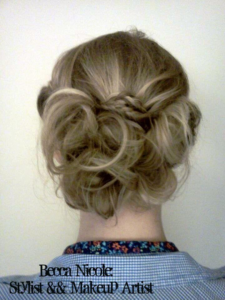 Blonde Highlights Updo Curls Bump Braids Chic Taylorswift