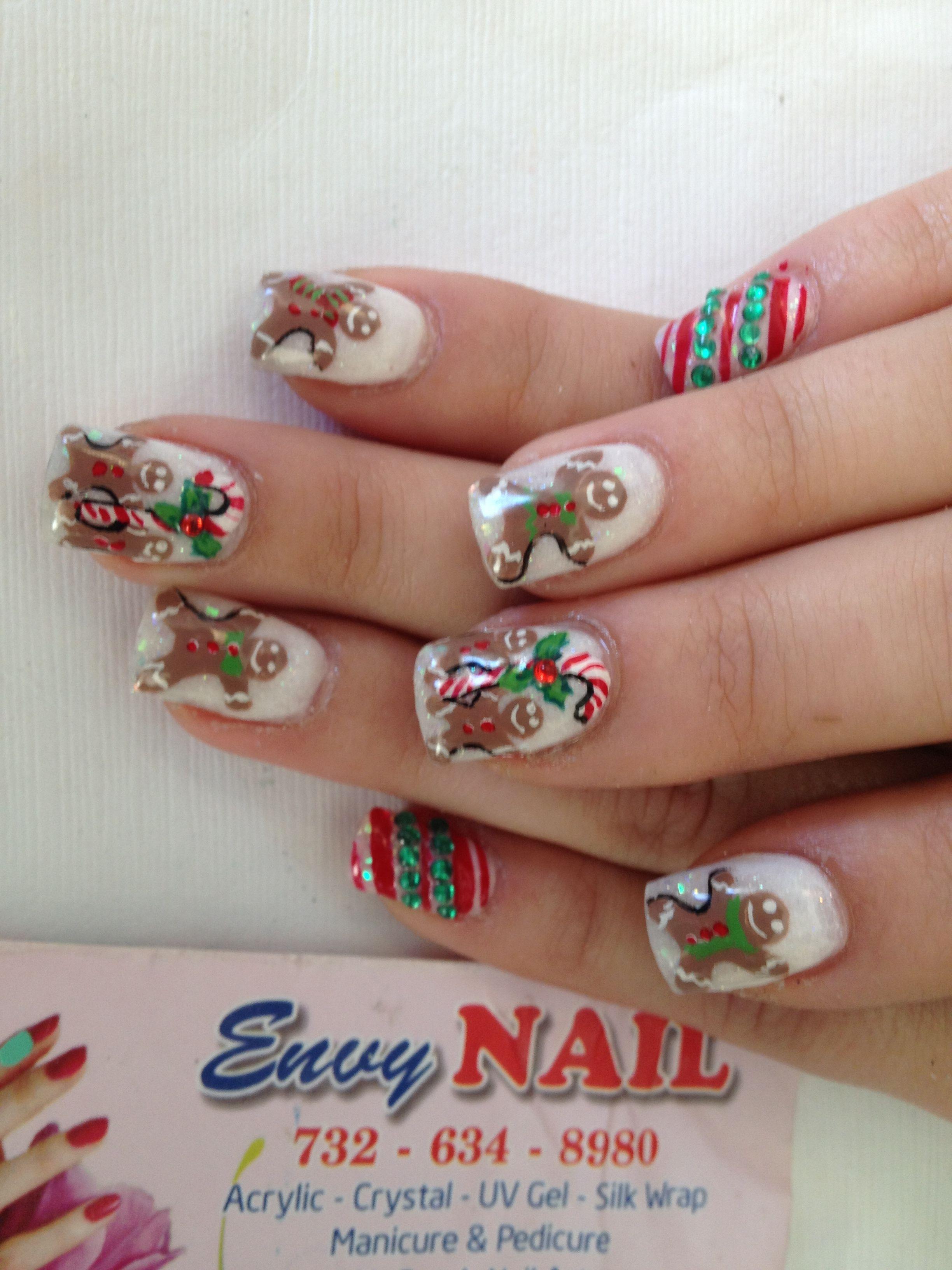 Gingerbread men nails ! 2013   My Nail Designs   Pinterest