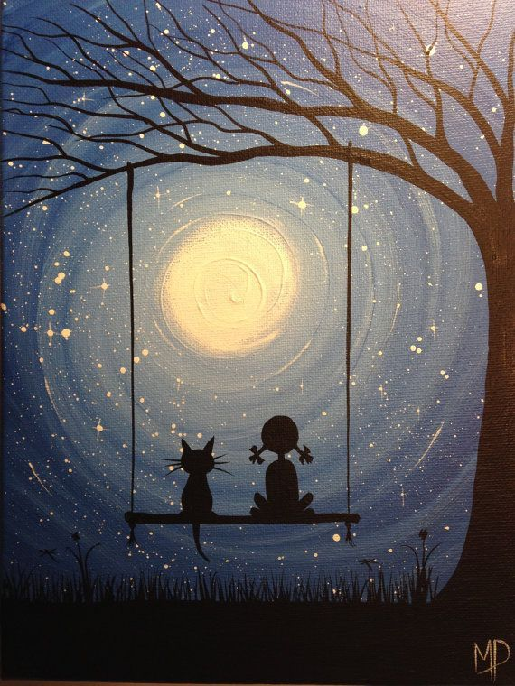Photo of I wish I may – 9 x 12 acrylic on canvas panel, ready to hang, by Michael H. Prosper – Baby Showers