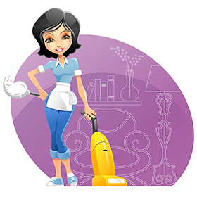 Maid Cleaning Girl Cleaning Cartoon Cleaning Maid Cleaning Logo