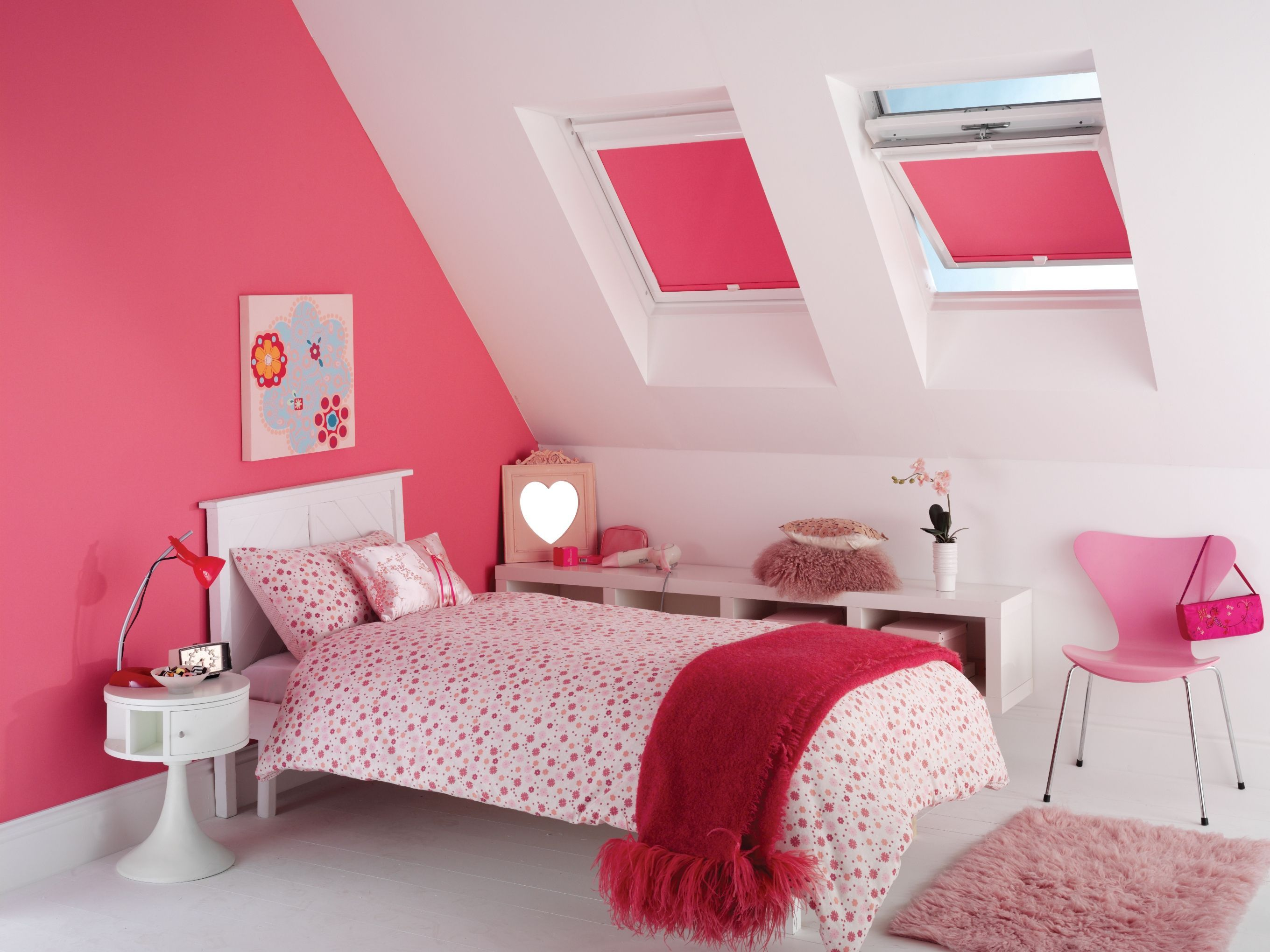 Pink skylight blinds from Apollo Blinds. Pink blinds ...
