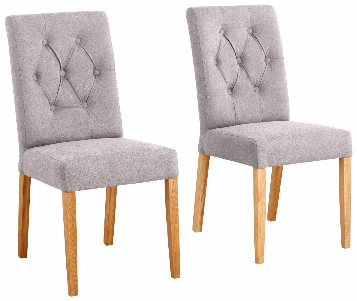 Genial Home Affaire Stühle »Regina« Beige, 6er Set, Webstoff, Strapazierfähig, FSC
