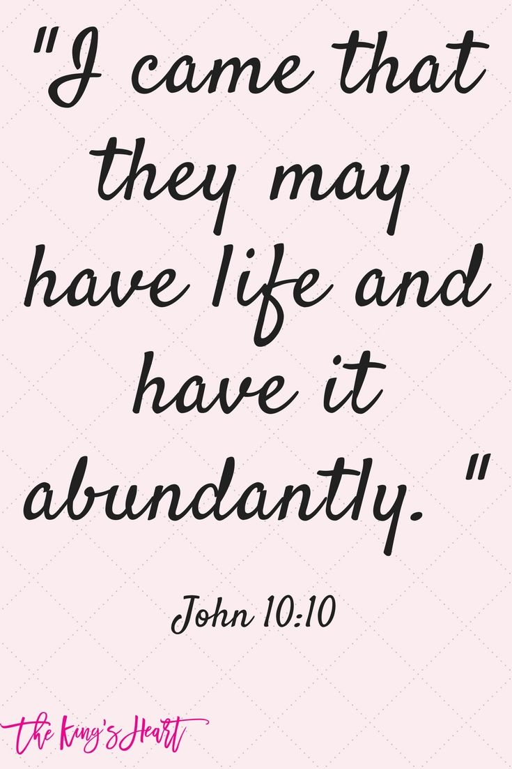 Thank you Jesus for abundant life! You make our lives fully