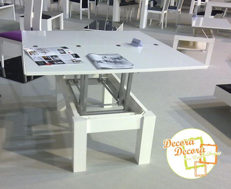 Te imaginas? Una mesa de centro, elevable y extensible, que se ...