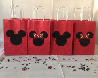 Mickey Mouse Minnie Mouse Goody Bags Candy by LilysPaperParty ...