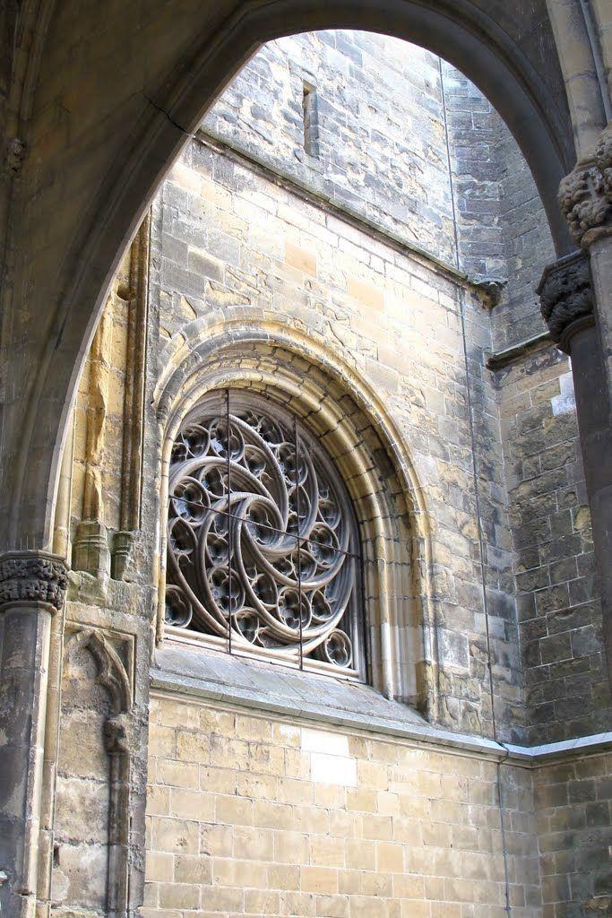 La Petite Rosace Small Rose Window Cathedrale Notre Dame De Bayonne