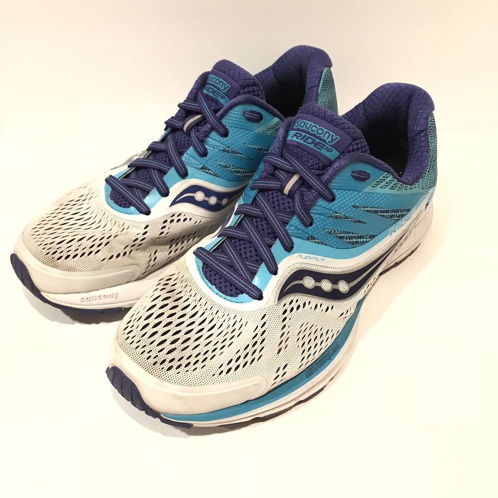 07ceecc5819 Saucony Ride 10 Womens size 9 Wide White Blue Purple EUC!  fashion   clothing  shoes  accessories  womensshoes  athleticshoes (ebay link)