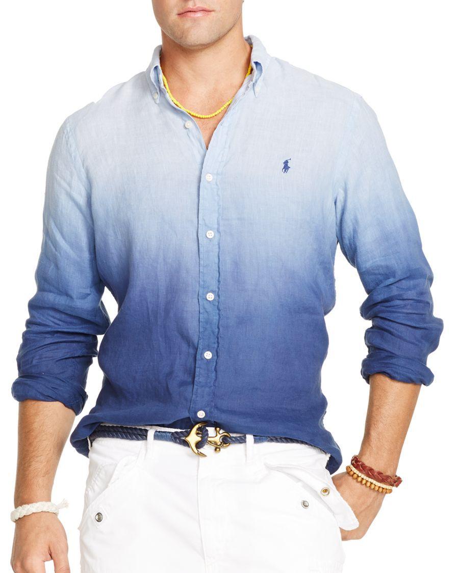 Polo Ralph Lauren Dip-Dyed Shirt - Casual Button-Down Shirts - Men - Macy's