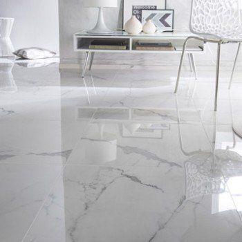 Carrelage Sol Et Mur Blanc Effet Marbre Rimini L 60 X L 60 Cm Leroy Merlin Porcelanato Para Sala Porcelanato Marmorizado Decoracao Sala De Tv