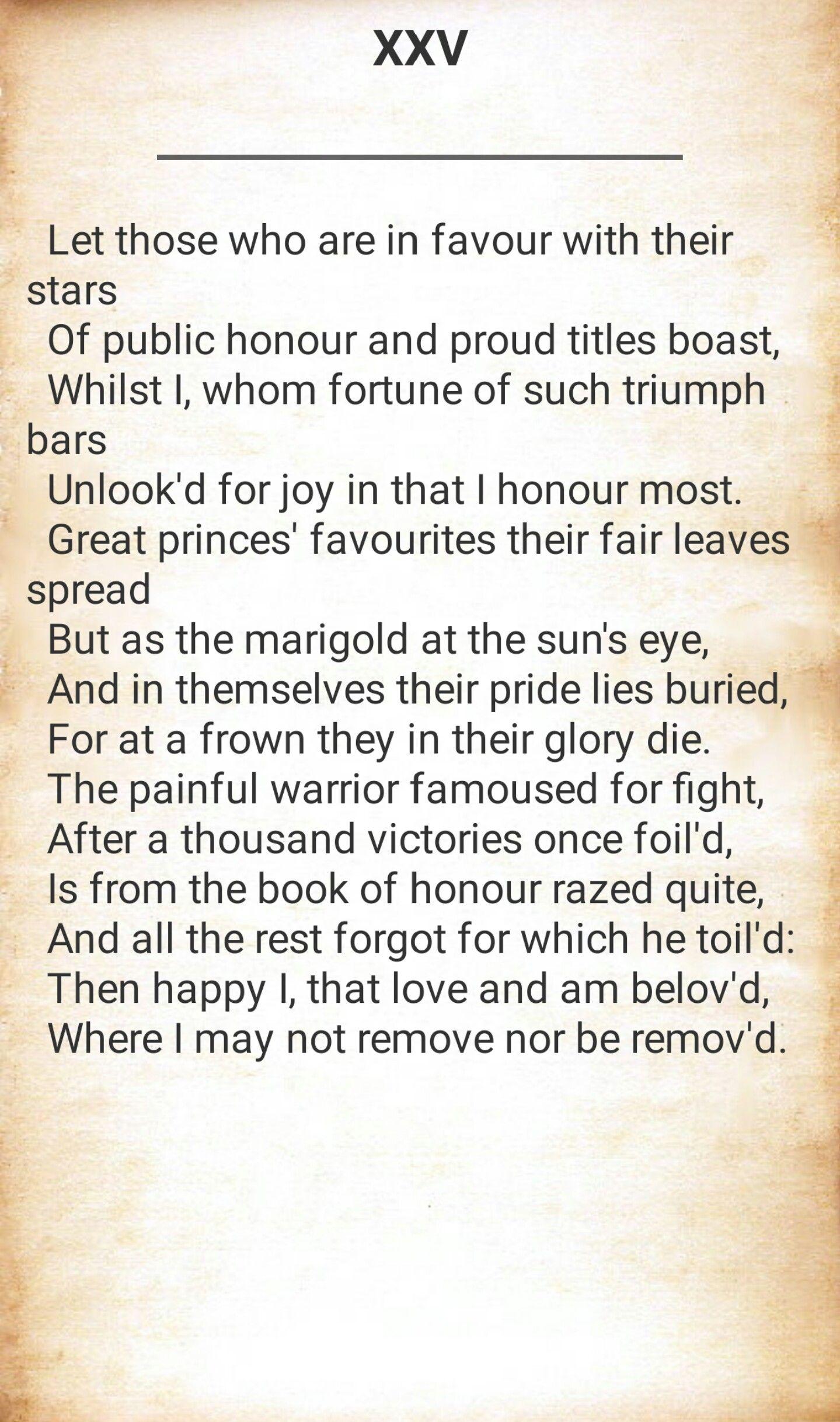 shakespeare sonnet 23 analysis