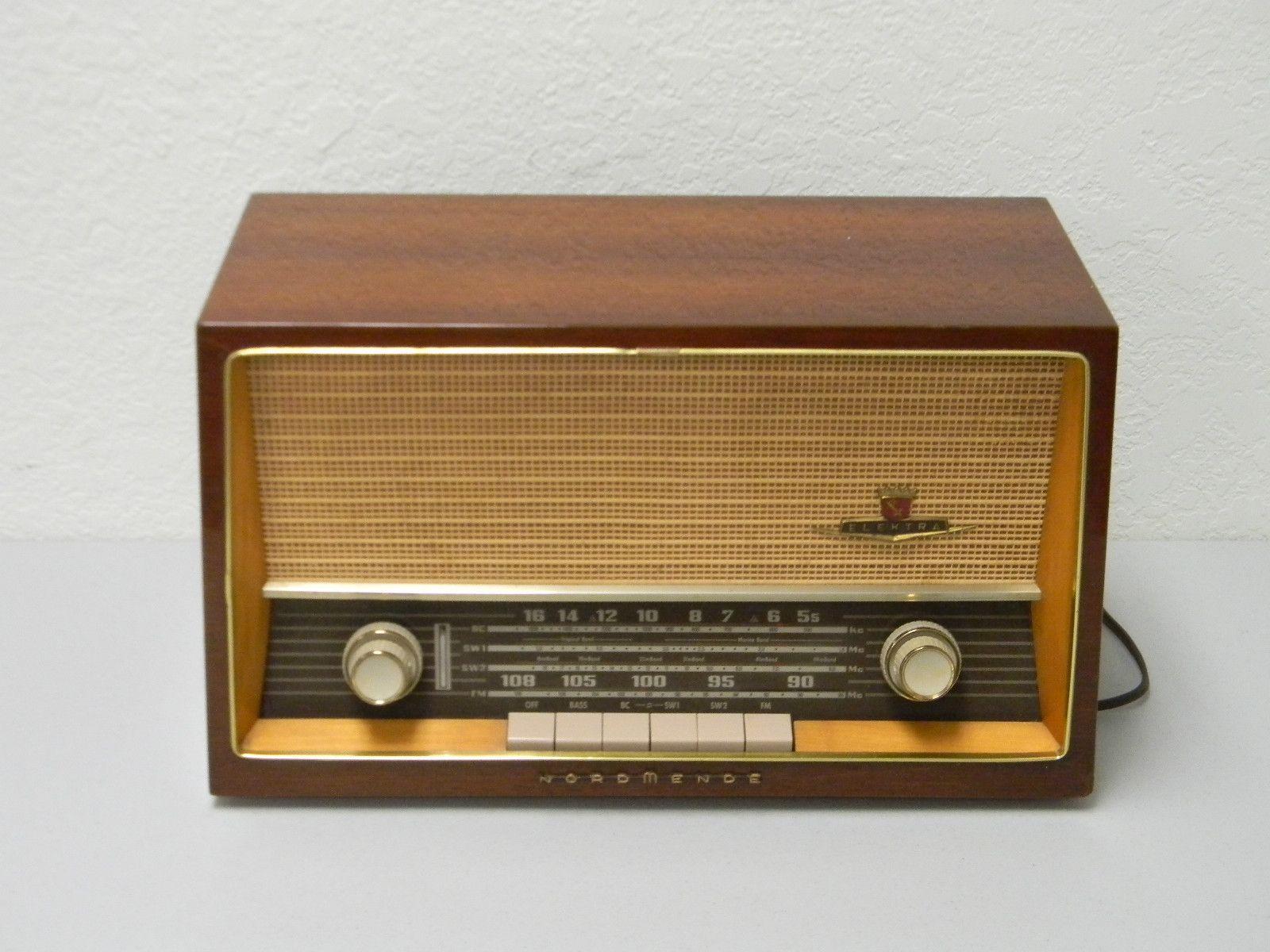 Nordmende Elektra C Shortwave Am Fm Tube Radio West Germany Antique Radio Vintage Radio Old Radios