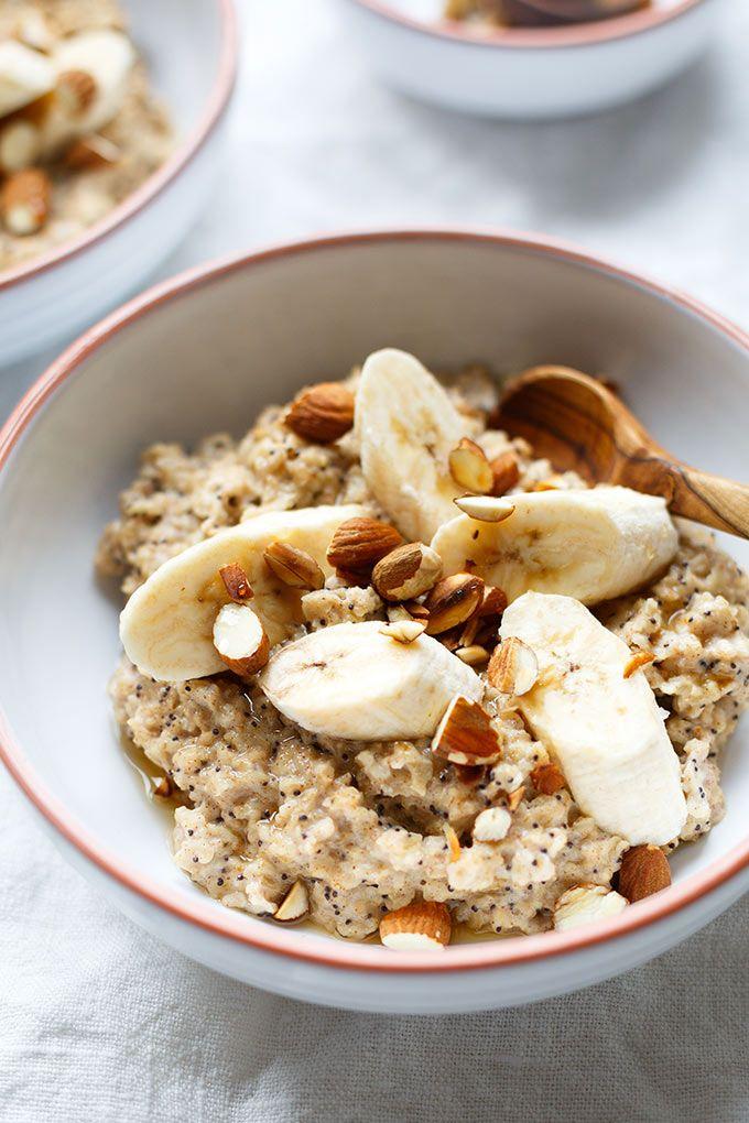 Bananen-Zimt-Porridge mit Ahornsirup #nutritionhealthyeating