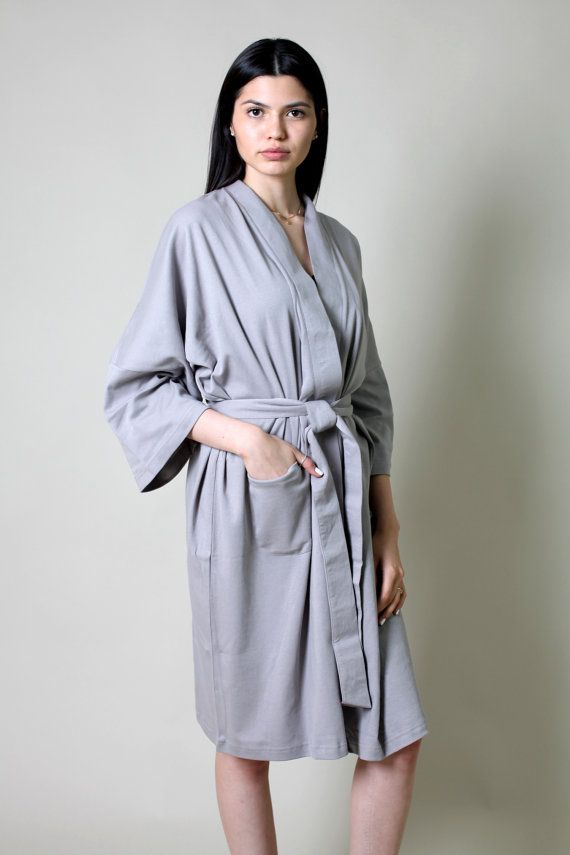 cb00adc274 Wrap yourself in this fine and luxurious 100% certified organic cotton  Interlock jersey bath   spa robe - pure