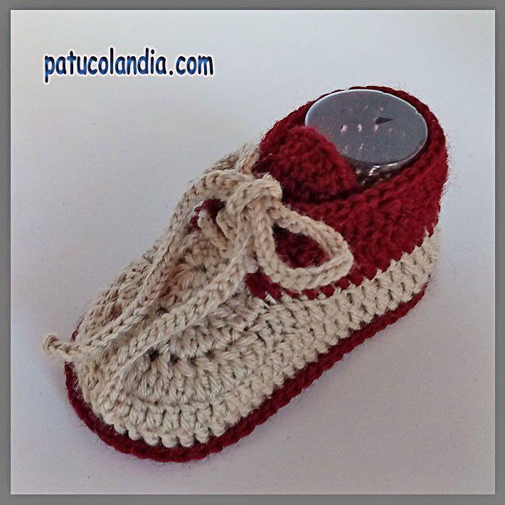 Zapatitos de ganchillo, para bebés hechos a mano, 60% Lana 40 ...