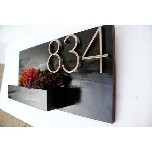 Modern Wall Planters: DISCONTINUED Black Address Planter