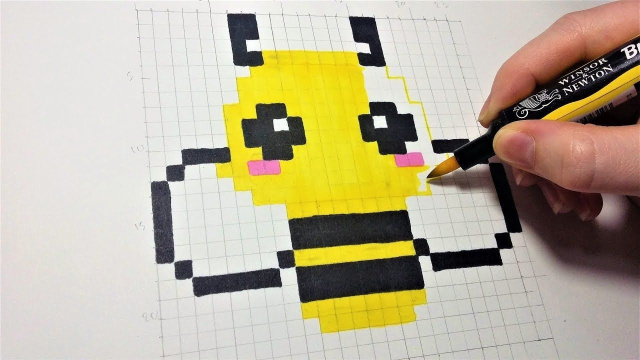 Pixel Art Facile Dessin Abeille Kawaii Pixel Art Facile