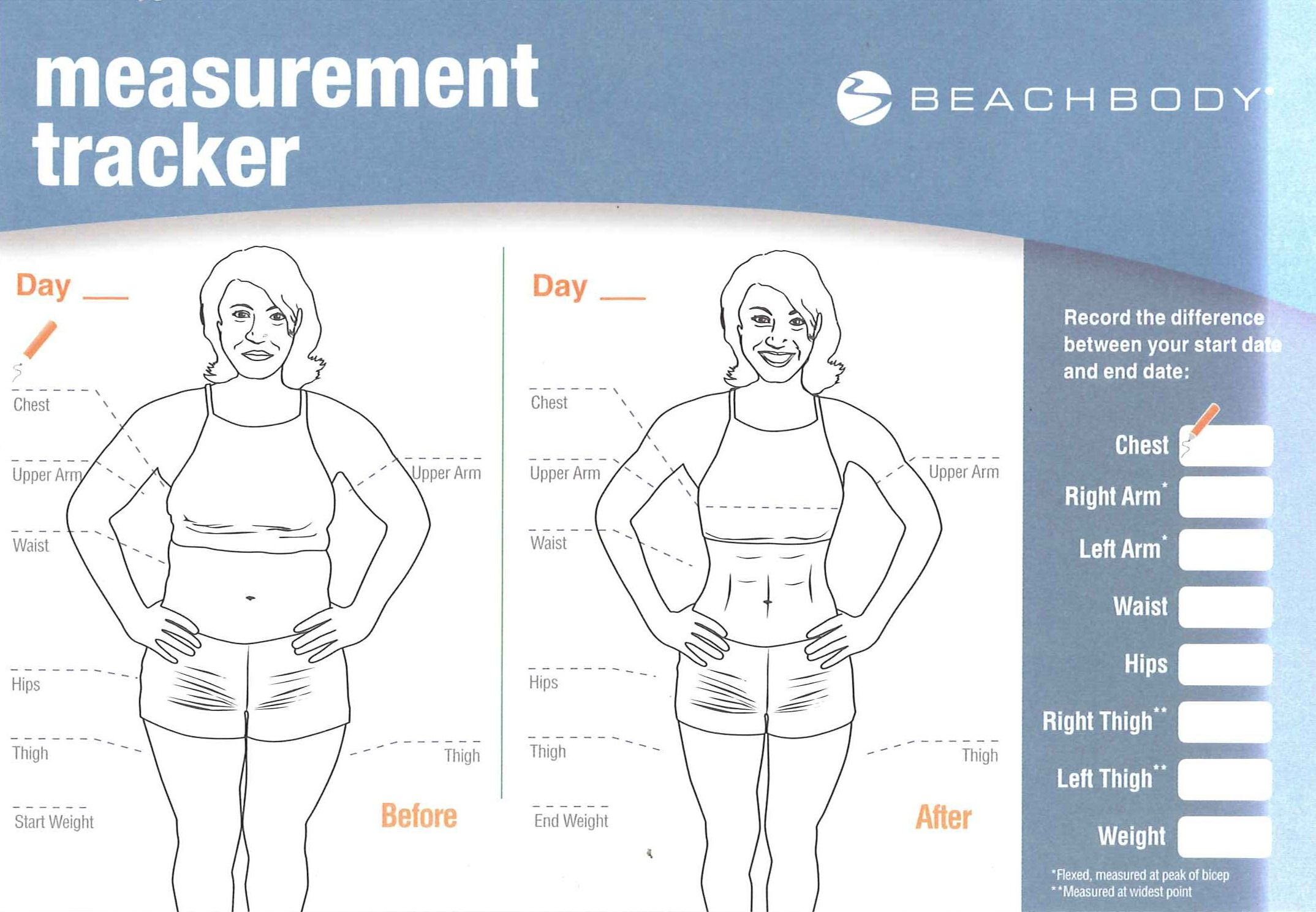 body measurement for women chart