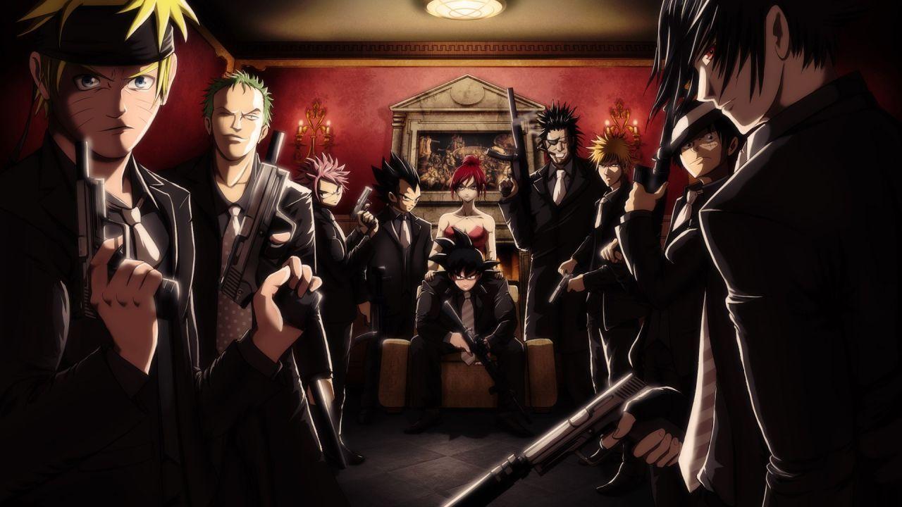 Anime Bleach Fairy Tail Funny Gangsters Guns Kurosaki