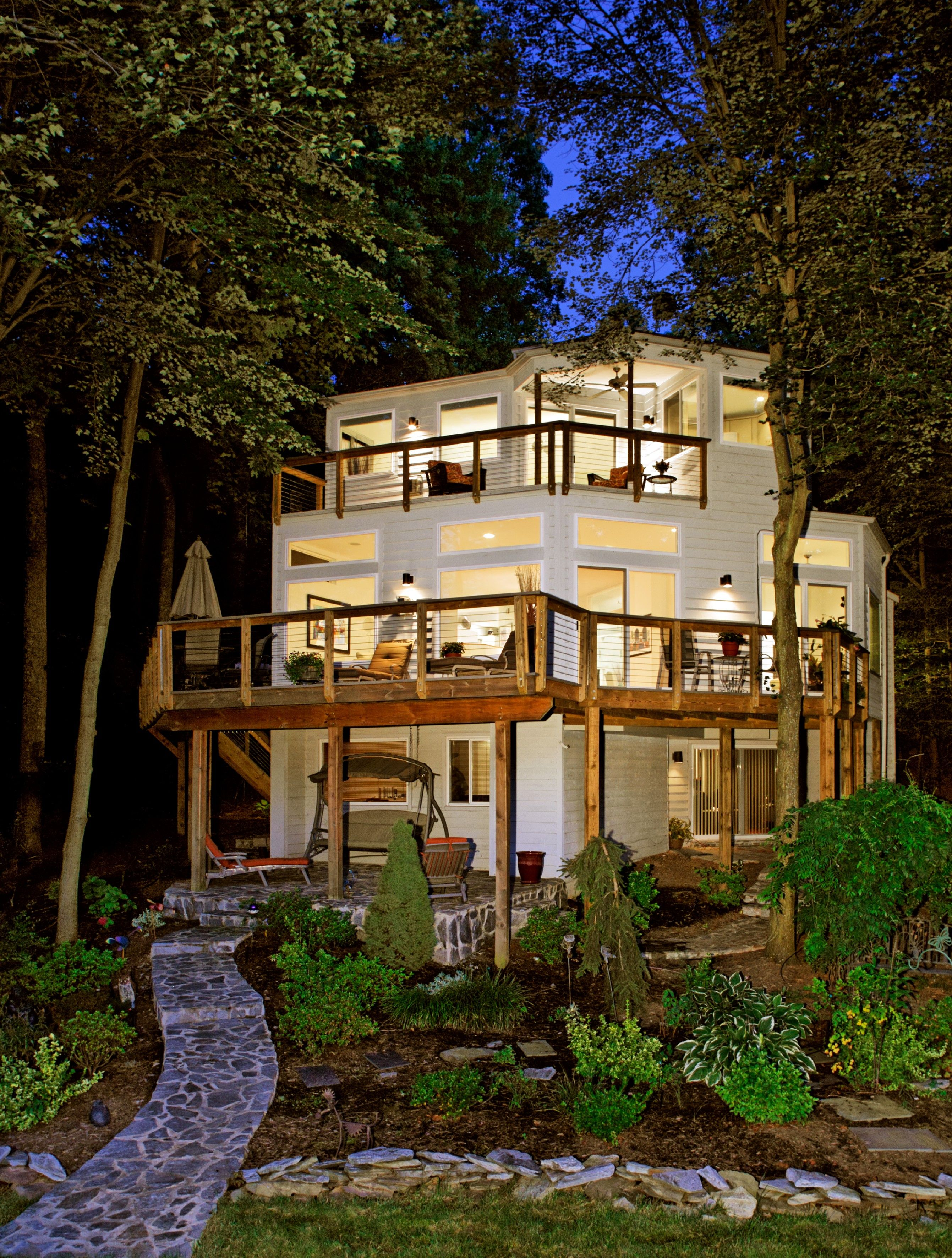 Contemporary deck remodel home expansion sun design inc